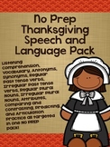 No Prep Thanksgiving Speech and Language Pack