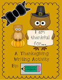 No Prep Thanksgiving Writing Activity