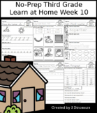 No-Prep Third Grade Learning At Home Week 10: Distance Learning
