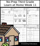 No-Prep Third Grade Learning At Home Week 11: Distance Learning