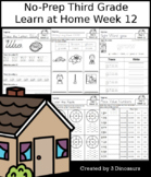 No-Prep Third Grade Learning At Home Week 12: Distance Learning