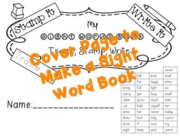 No Prep Third Grade Sight Words Stamping and Activities