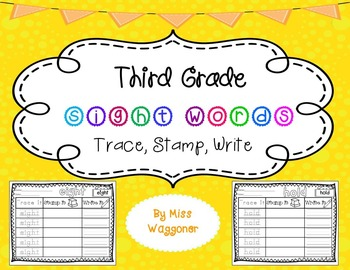No Prep Third Grade Sight Words Stamping and Activities