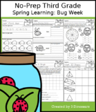 No-Prep Third Grade Spring Learning: Bug Week - Distance Learning