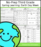 No-Prep Third Grade Spring Learning: Earth Day Week - Dist