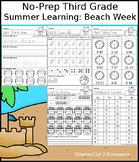No-Prep Third Grade Summer Learning: Beach Week