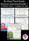 No-Prep Third Grade Summer Learning Bundle