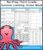 No-Prep Third Grade Summer Learning: Ocean Week