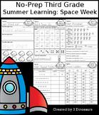 No-Prep Third Grade Summer Learning: Space Week