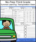 No-Prep Third Grade Summer Learning: Transportation Week