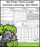 No-Prep Third Grade Summer Learning: Zoo Week
