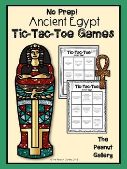 No Prep Tic Tac Toe Games: Ancient Egypt
