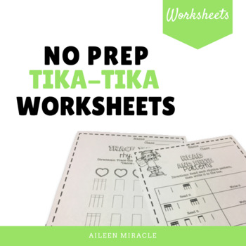 No Prep Tika-Tika Music Worksheets