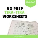 No Prep Tika-Tika Music Worksheets
