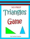No Prep Triangles Game - Fourth Grade Math 4.G.A.2