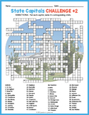 USA STATE CAPITALS Crossword Puzzle Worksheets Activity