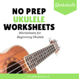 No Prep Ukulele Worksheets