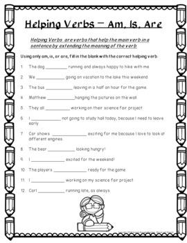 No-Prep - Understanding Helping Verbs