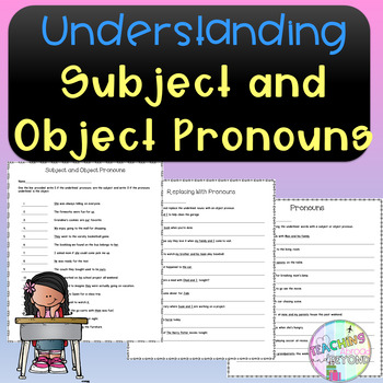 Understanding Subject and Object Pronouns - No Prep