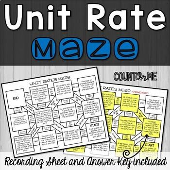 No Prep Unit Rate Maze