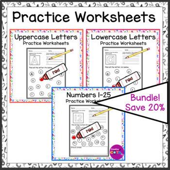 no prep upper and lower case worksheet bundle