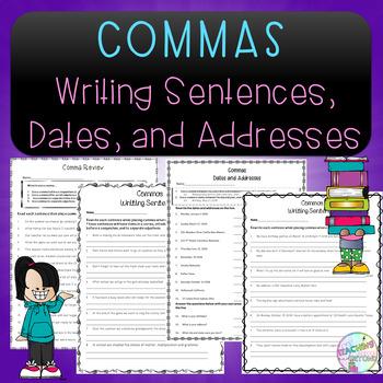 No-Prep - Using Commas in Sentences, Dates, and Addresses