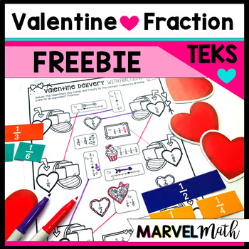 No Prep Valentine Fraction Freebie by Marvel Math