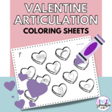 No Prep Valentine Hearts Articulation Coloring: All Sounds
