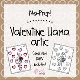No Prep Valentine Llamas