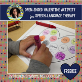 No Prep Valentine Open-Ended Freebie for Speech Language Therapy