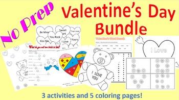 No Prep Valentine's Day Bundle