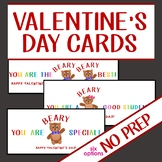 Printable Valentine's Day Cards for Students from Teachers or Other Students