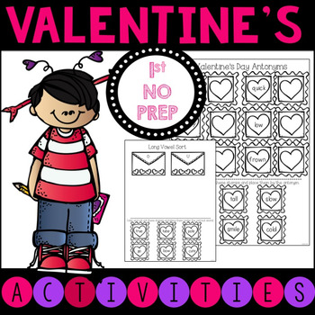 No Prep Valentine's Day Literacy Activities