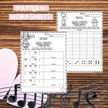 No Prep Valentine's Day Music Worksheets