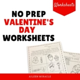 No Prep Valentine's Day Music Worksheets