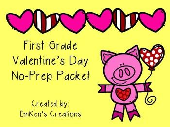 No Prep Valentine's Day Printables - First Grade