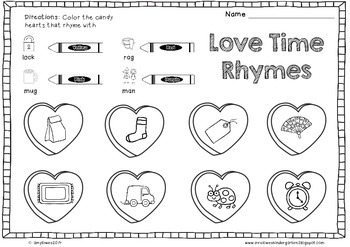 No Prep Valentine's Day Math and Literacy Printables
