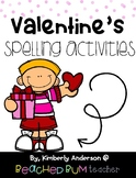 No Prep Valentine's Day Themed Word Work / Spelling Activities for the Week!