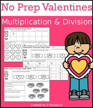 No Prep Valentines Multiplication & Division