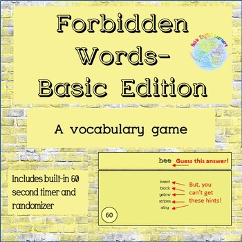 ESL EFL Taboo-style Paperless Vocabulary Game 150 words