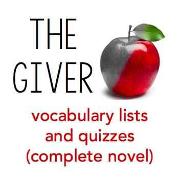 The Giver Vocabulary Quizzes