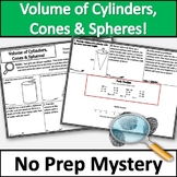 Volume of Cylinders, Cones, and Spheres Activity! No Prep