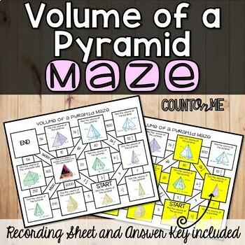 No Prep Volume of a Pyramid Maze