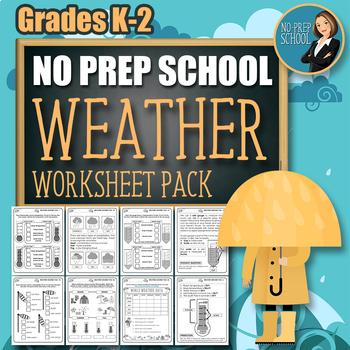 No-Prep Weather Worksheet Pack