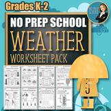 No-Prep Weather Worksheet Pack