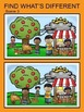 No Prep What's Different? Fall Themed for Speech and Language