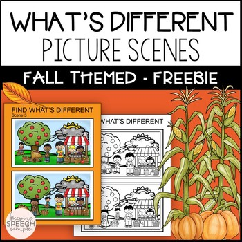 What's Different? Language Activity for Fall - Free Sample