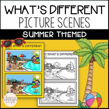 No Prep What's Different? Summer Themed for Speech and Language