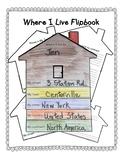 """No Prep """"Where I Live"""" Flipbook"""