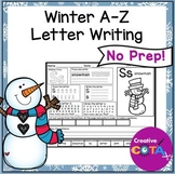 No Prep Winter ABC Identification and Writing Worksheets